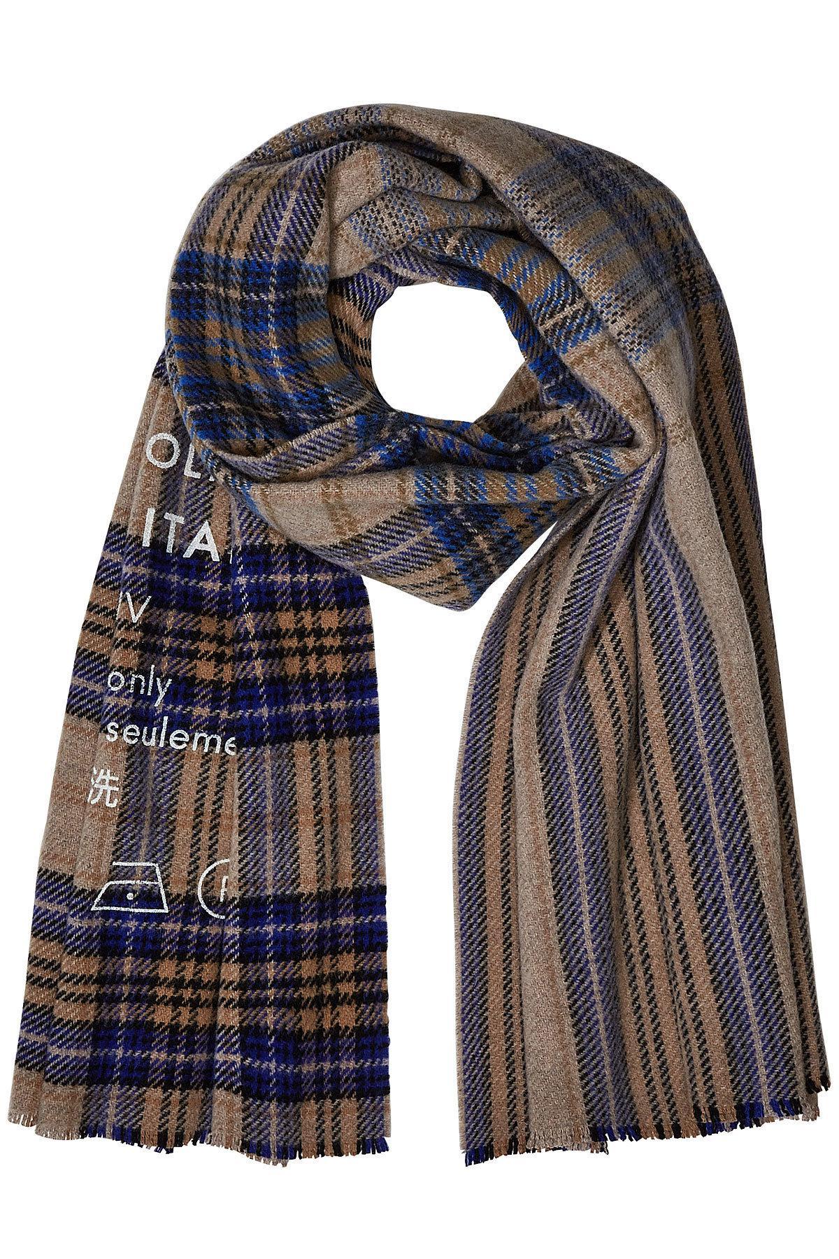 b4806cafe583 Lyst - Écharpe à carreaux en laine imprimée Acne Studios pour homme ...