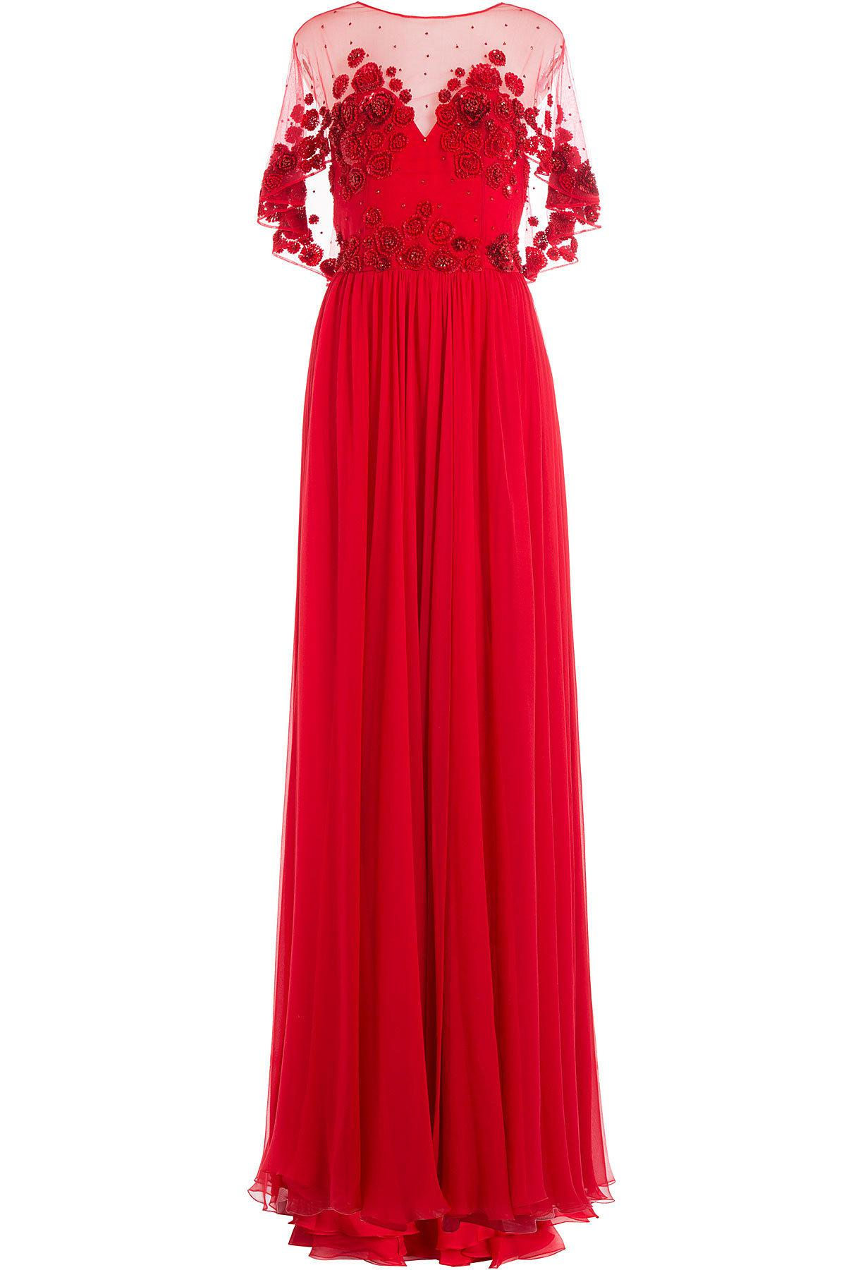 Zuhair Murad Embellished Evening Gown in Red - Lyst