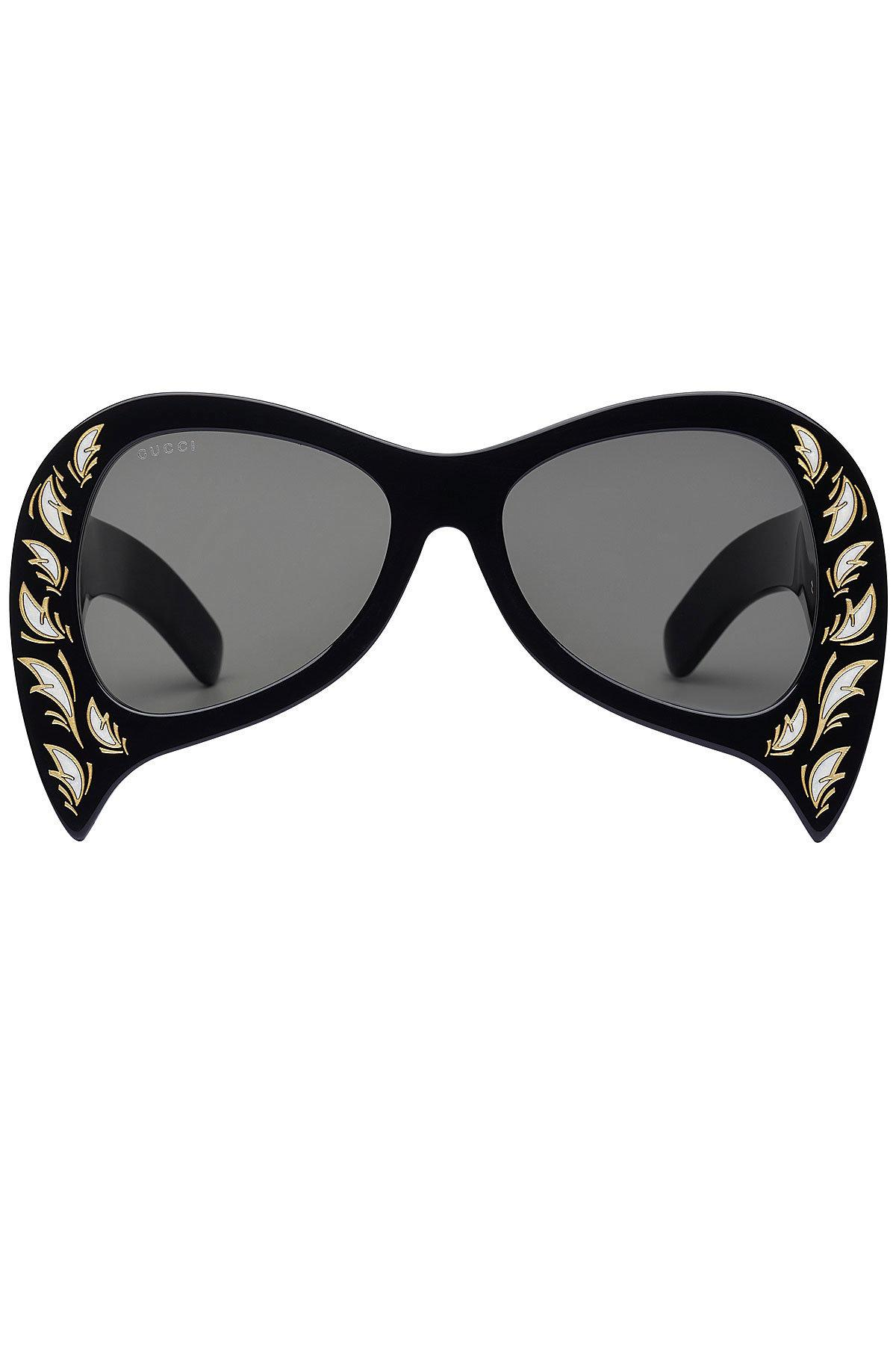 b55a2c0c079 Gucci Oversized Sunglasses With Mother Of Pearl in Black - Lyst