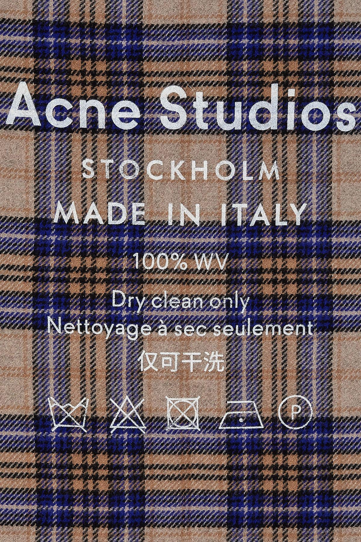 48abf4da434b Lyst - Écharpe à carreaux en laine imprimée Acne Studios pour homme ...