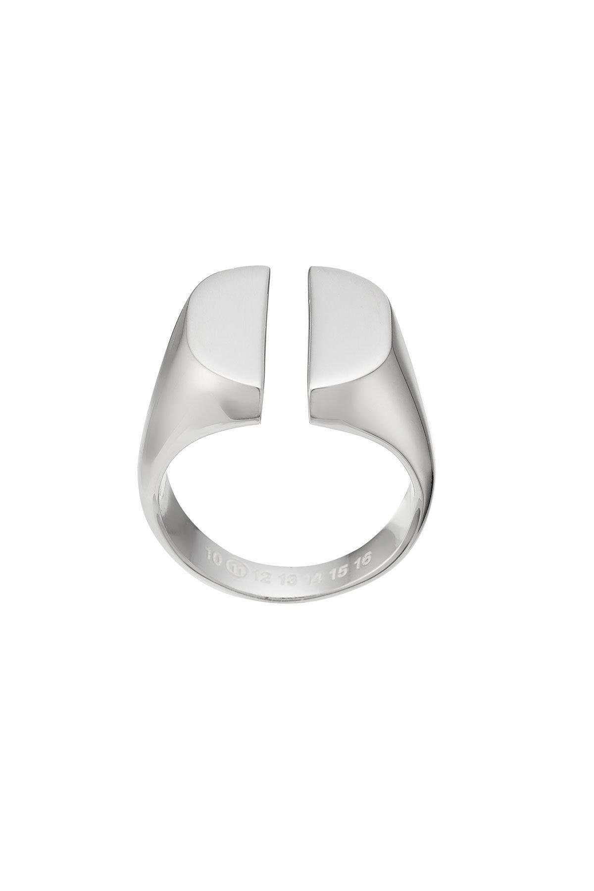 Maison Martin Margiela textured three-band ring - Metallic opxE4rmD