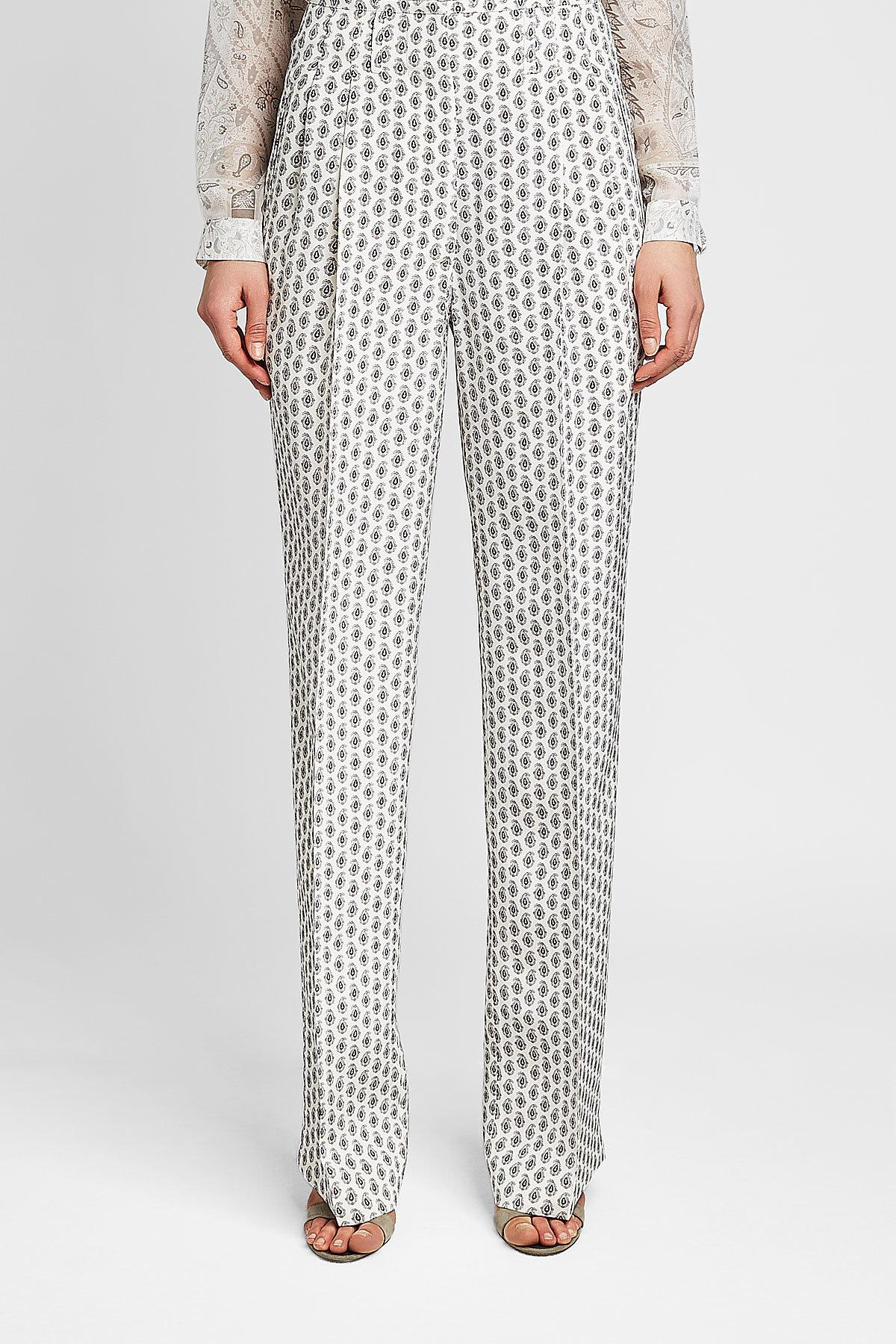 f6b7c41d467ef Etro - Multicolor Printed Silk Trousers - Lyst. View fullscreen