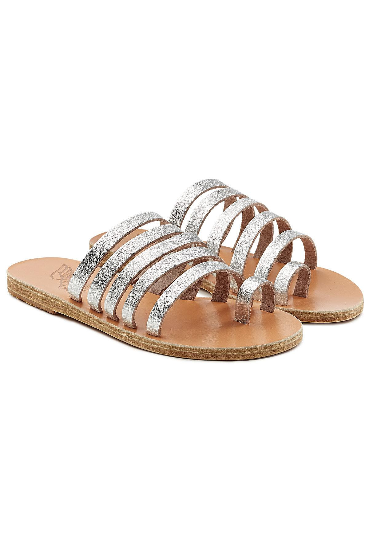 Enosi metallic leather sandals Ancient Greek Sandals