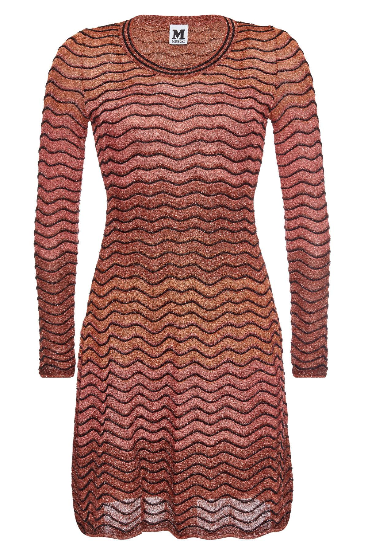 15e09798d9b2 M Missoni Knit Dress With Metallic Thread in Red - Lyst