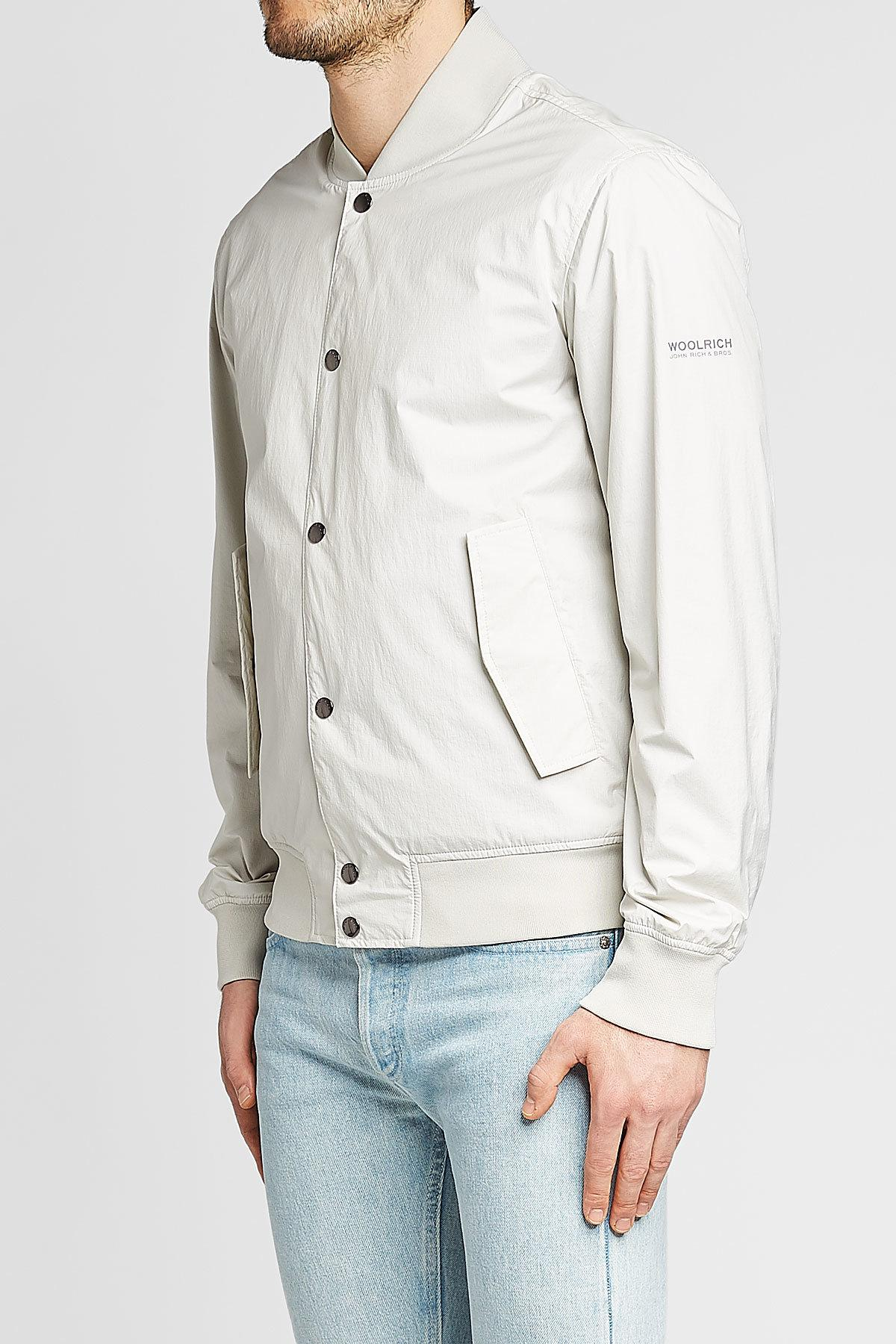 78b468e87 Lyst - Woolrich Wallaby Bomber Jacket in Natural for Men