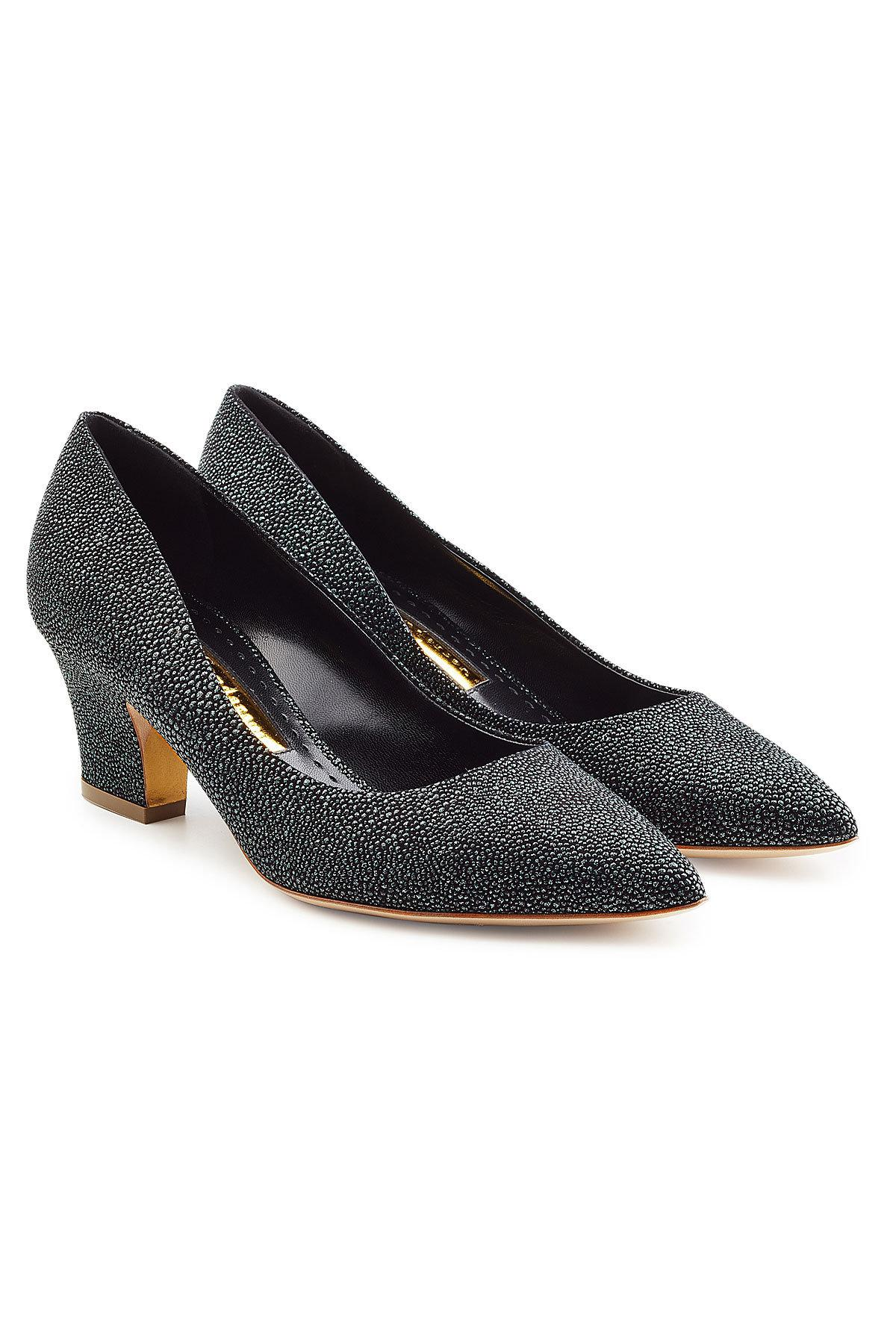 Rupert Sanderson Textured Leather Pumps Clearance Extremely Sale Limited Edition Pay With Paypal Online dalif