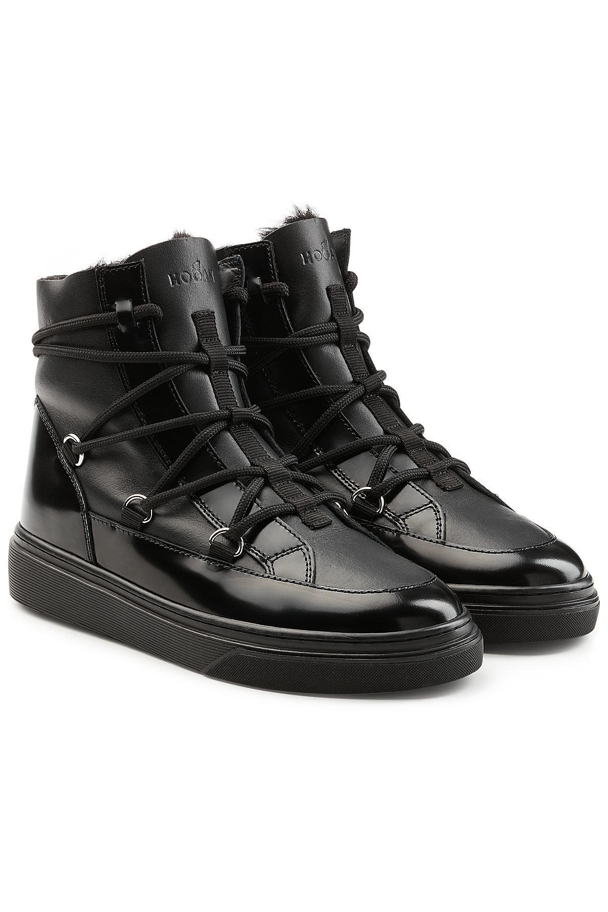 Hogan. Women's Black Platform Ankle Boots ...