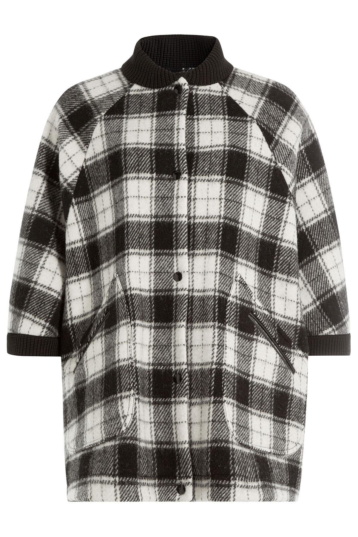 a5180b346d3e M Missoni Wool Plaid Short Sleeve Cape in White - Lyst