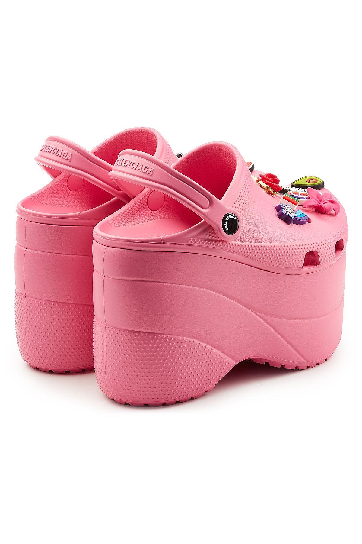 Lyst Balenciaga Platform Crocs In Pink