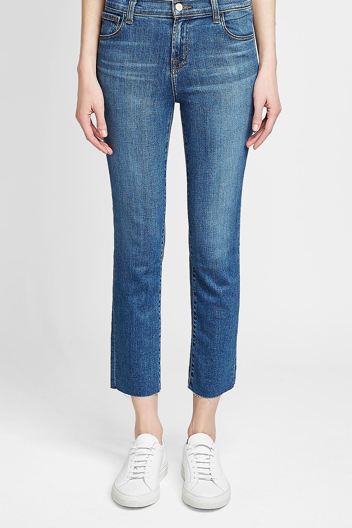 4afb6be98490 J Brand - Red Ruby High Rise Cropped Jeans - Lyst. View fullscreen