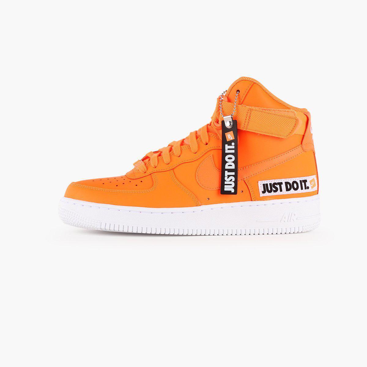 9a6cf79764fe5b Nike Air Force 1 High Lx Leather Women s in Orange - Lyst