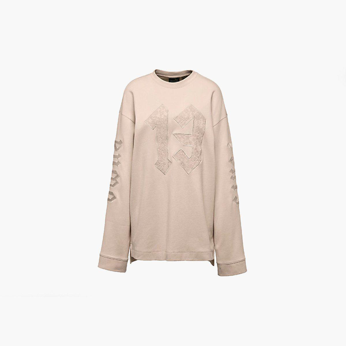 c1fcb24890f8 Lyst - PUMA Ls Graphic Crew Neck T-shirt By Rihanna in Natural