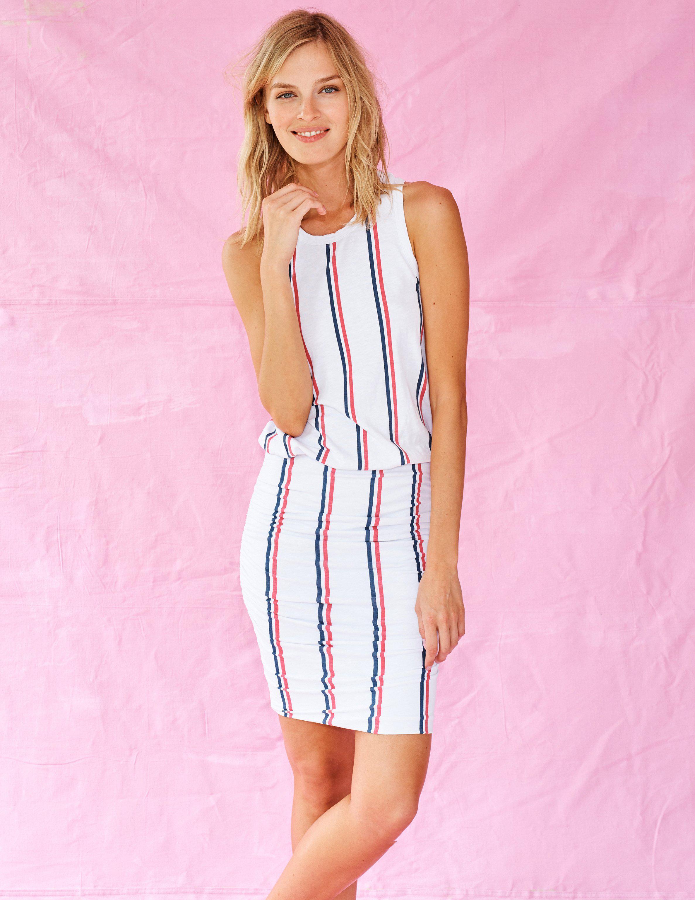 633dc55f43731 Lyst - Sundry Stripes Sleeveless Dress in White