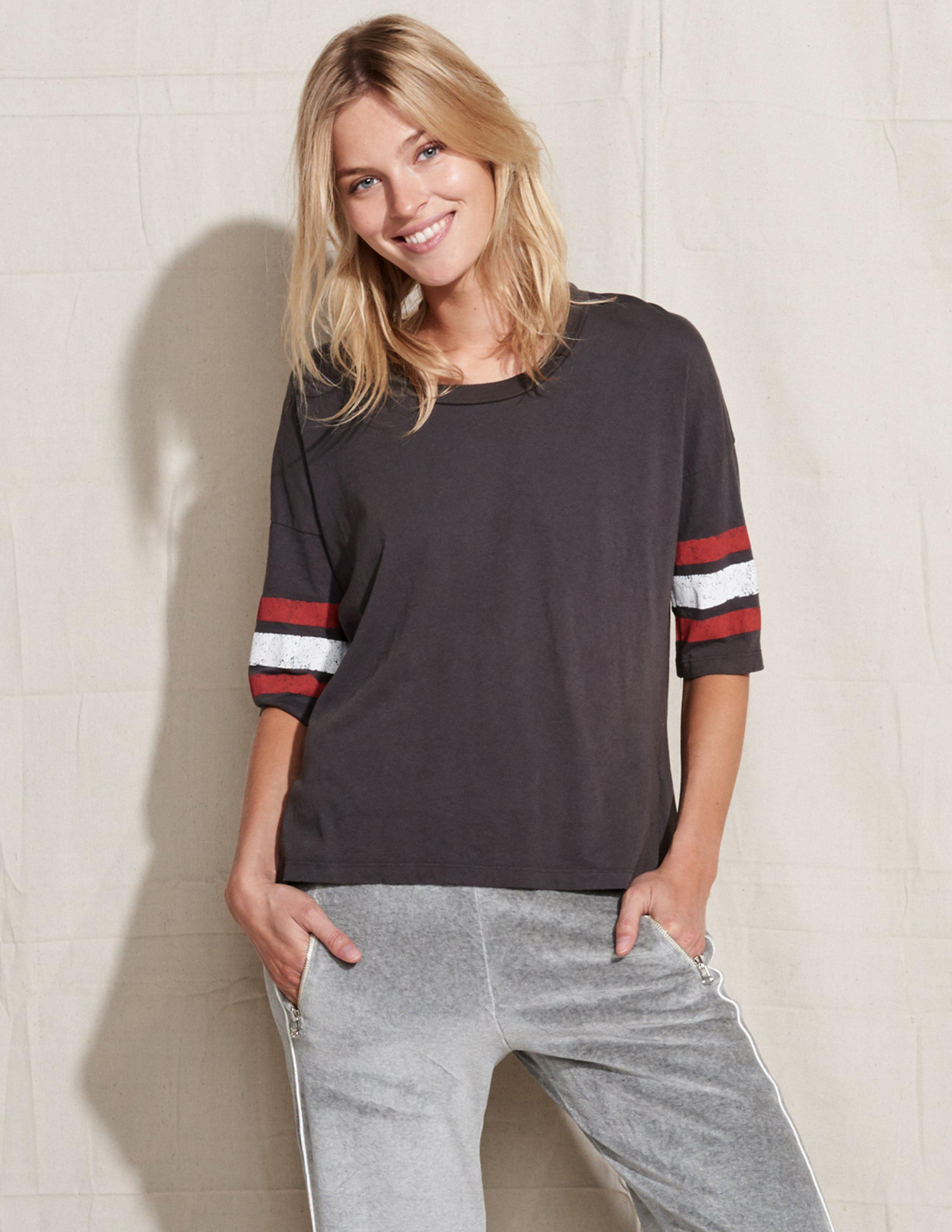 069d9f2dc07375 Sundry Athletic Stripes Oversized Tee in Black - Lyst