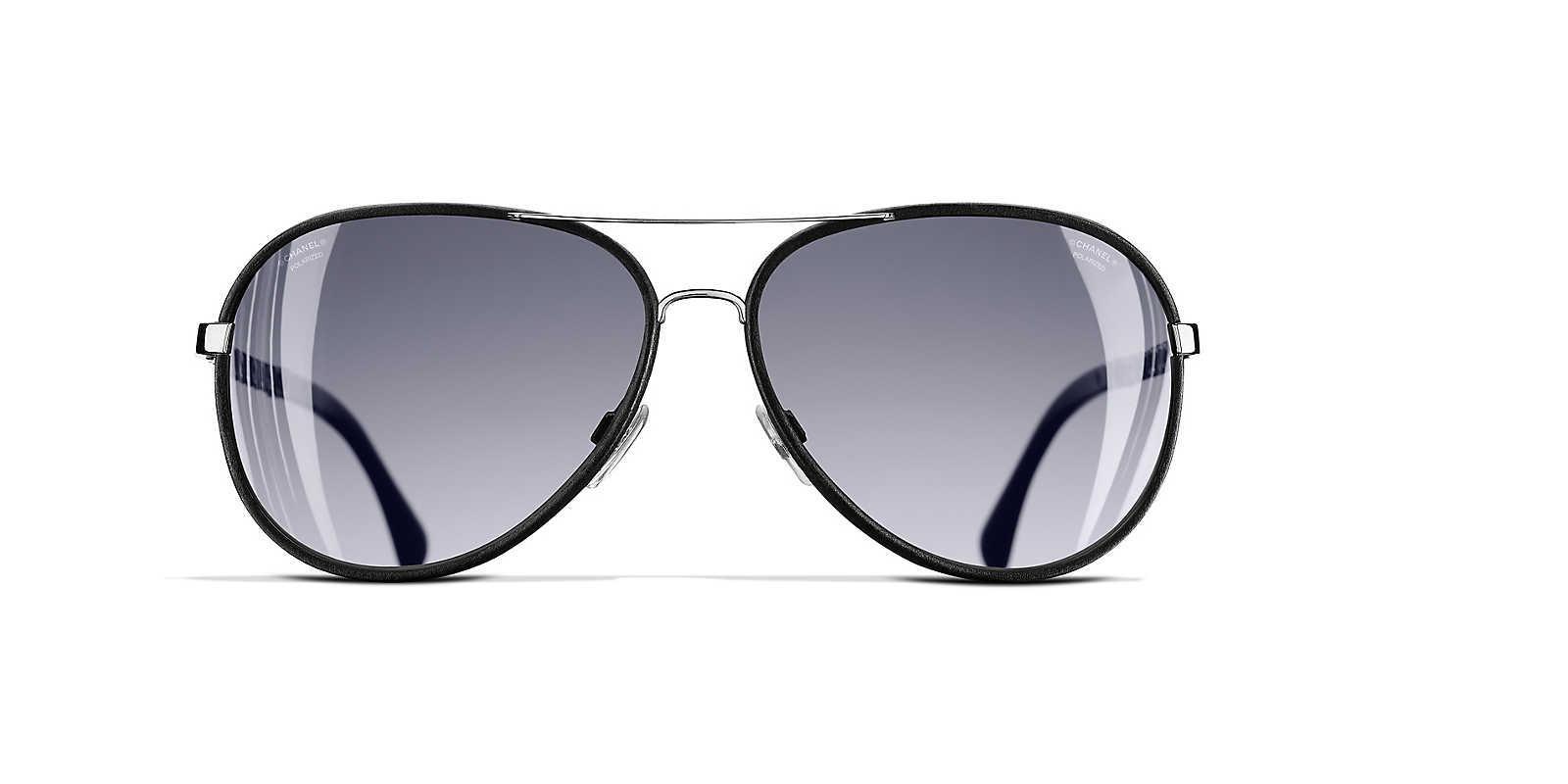 15d5106e96ba Chanel - Gray Sunglass Pilot Sunglasses - Lyst. View fullscreen