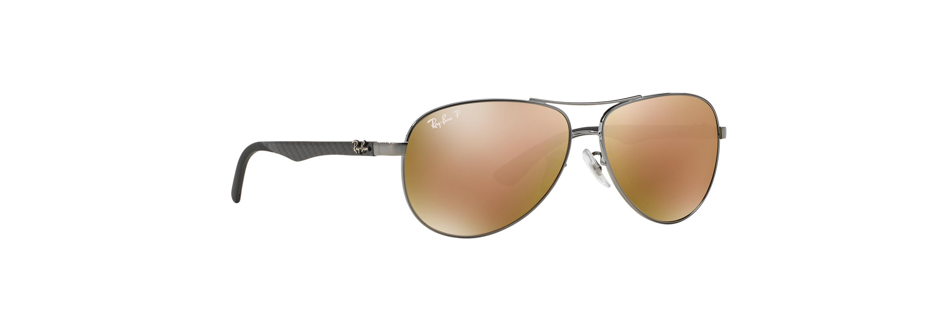 a81ed8390b Lyst - Ray-Ban Rb8313 58 Carbon Fibre Mirror Collection in Brown for Men
