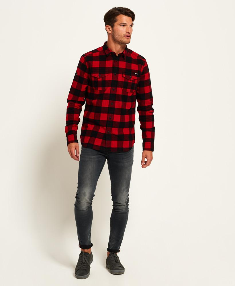 Superdry Rookie Plaid Shirt In Red For Men