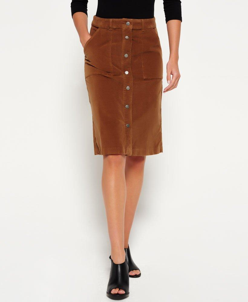 34844f2864 Superdry A-line Midi Cord Skirt in Brown - Lyst