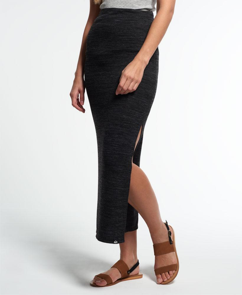 0d5e8285a6 Superdry Essential Twist Maxi Skirt in Black - Lyst