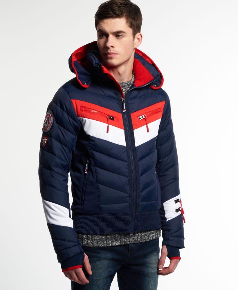 Superdry Scuba Carve Hooded Jacket In Blue For Men Lyst