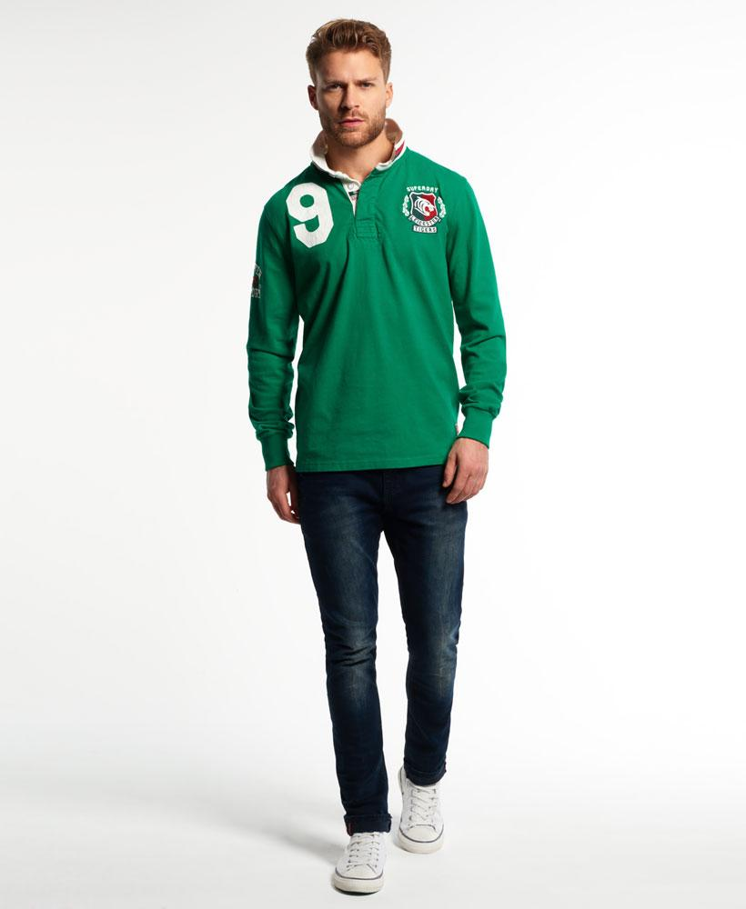 Lyst superdry leicester rugby shirt in green for men