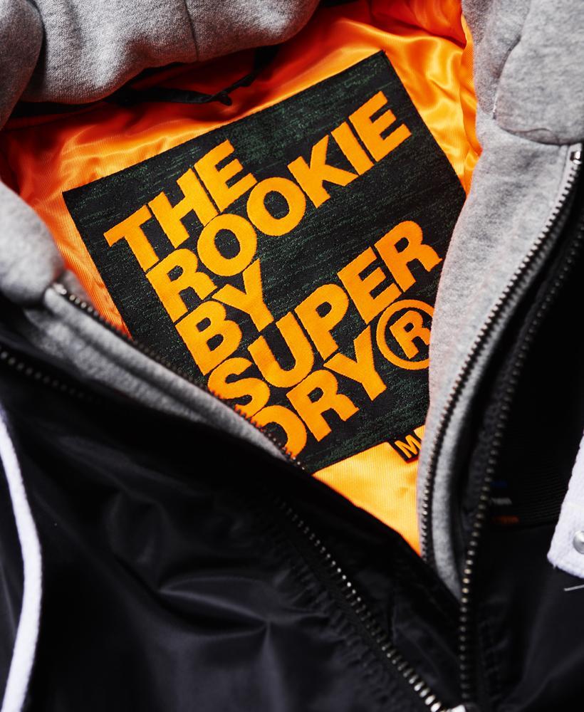 Superdry Real Rookie Flight Bomber Jacket In Black For Men