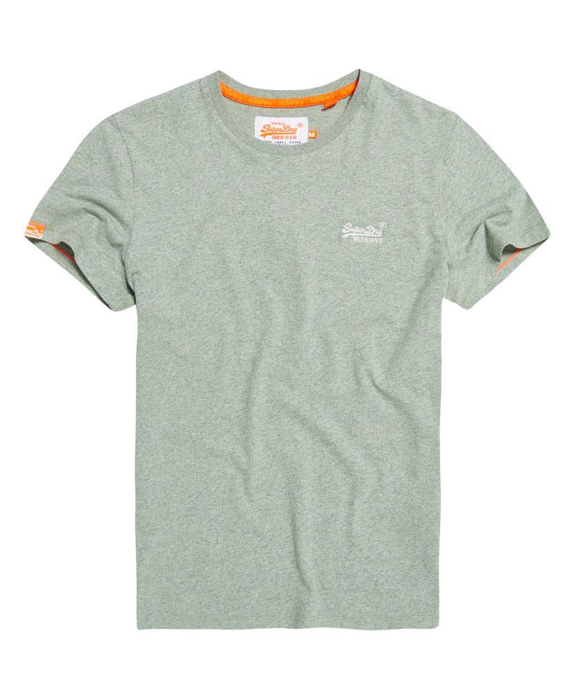 Lyst superdry orange label vintage embroidery t shirt in