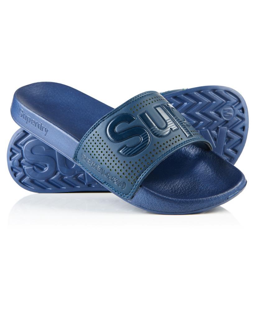 Lyst Superdry Pool Slider Sandals In Blue For Men