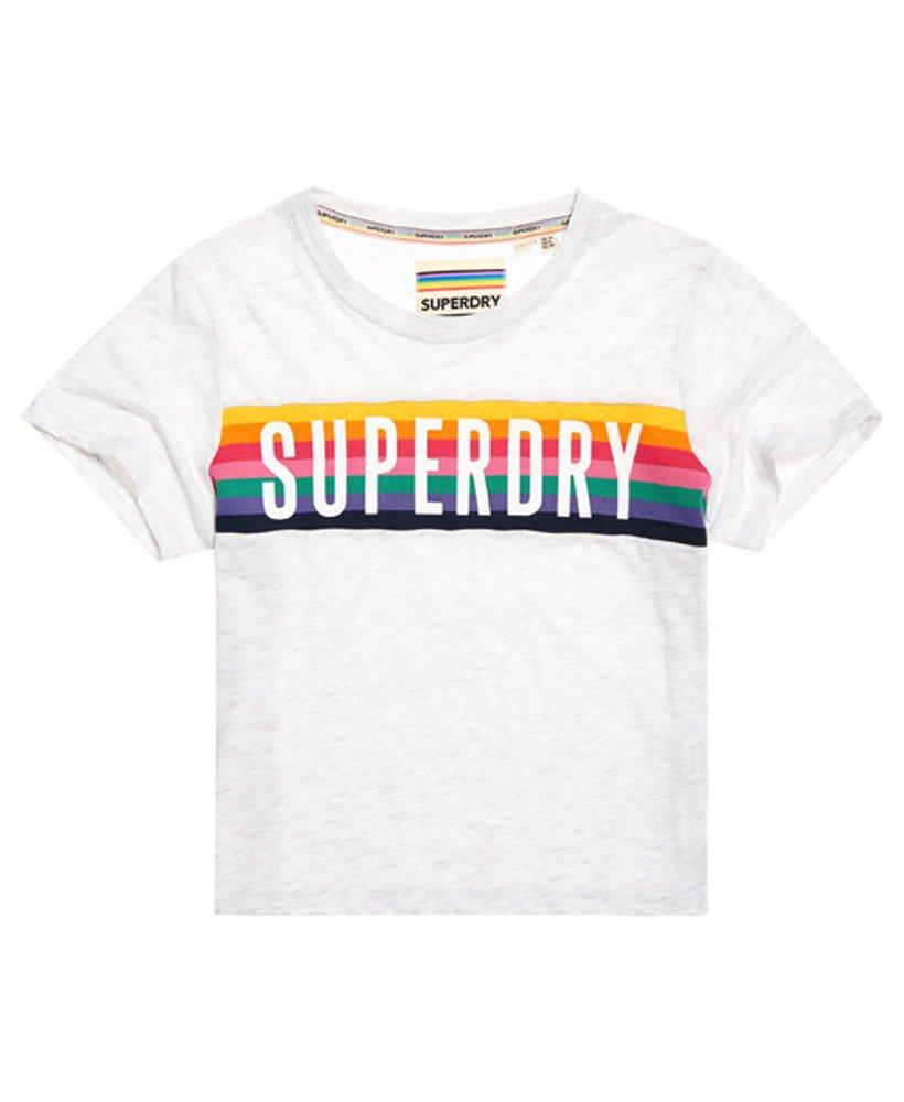 972965f65 Superdry Rainbow Graphic T-shirt in Gray - Lyst