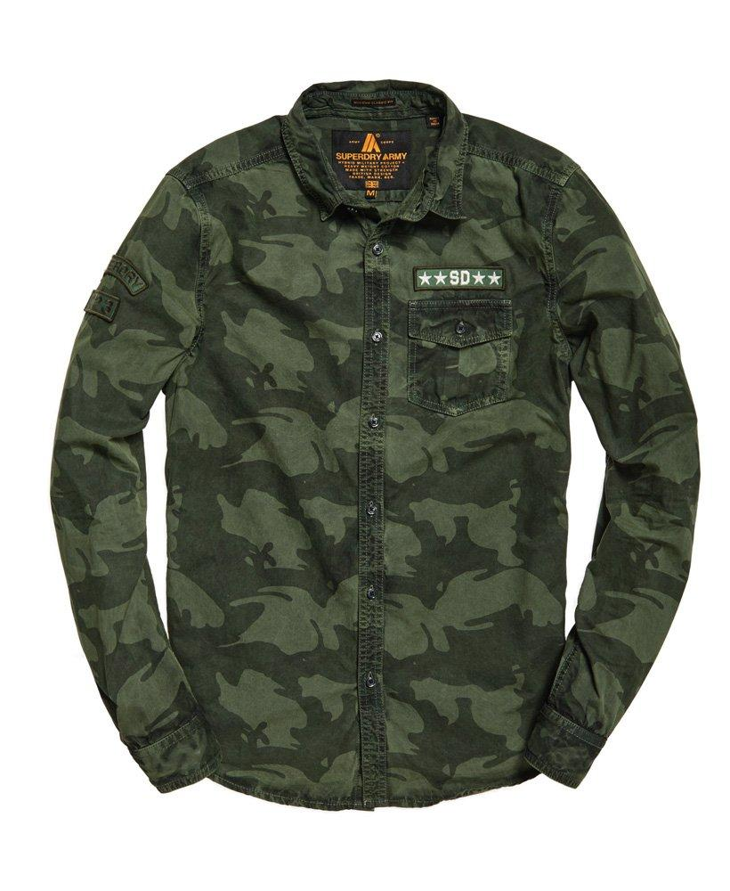 629835e468a6b9 Superdry Combat Long Sleeve Shirt in Green for Men - Save 50% - Lyst