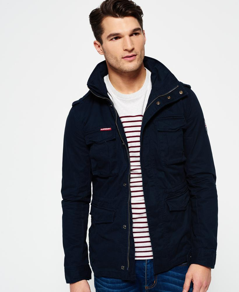 Superdry Rookie Military Jacket In Blue For Men