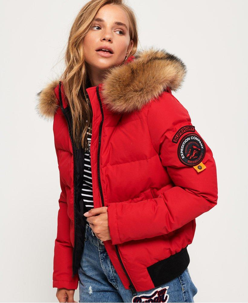 992291aab9673 Superdry Everest Ella Bomber Jacket in Red - Save 22% - Lyst