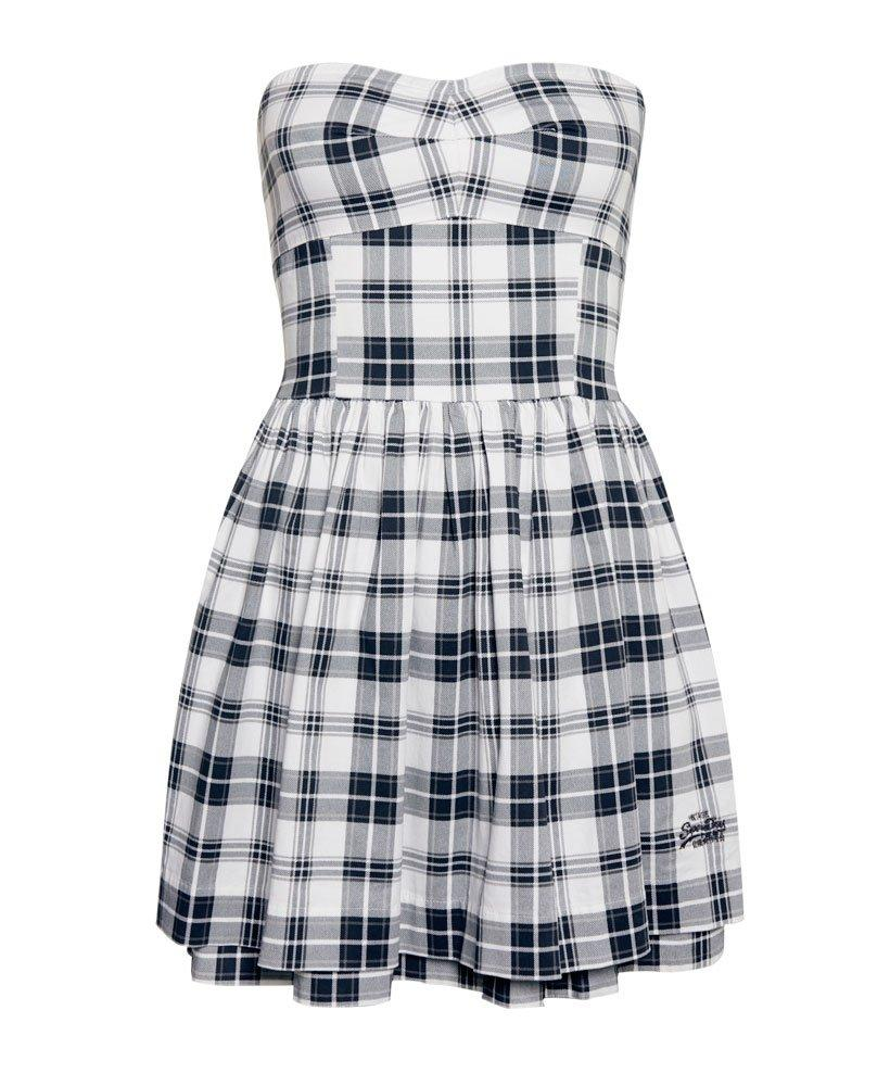 125afeb0c96e Lyst - Superdry 50s Prom Plaid Dress in White