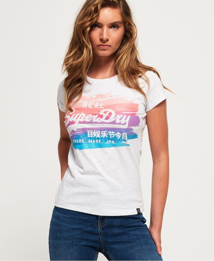 7bdc0b442 Lyst - Superdry Vintage Logo Painted Rainbow T-shirt in Gray
