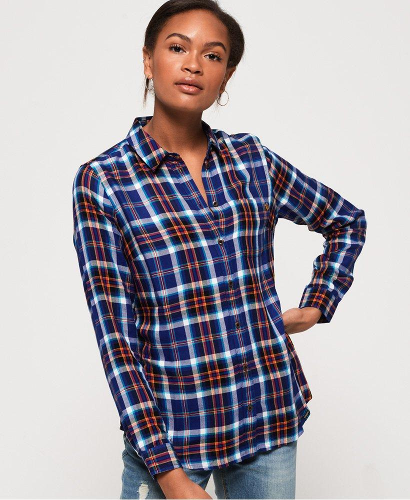 6a9bae459c74a Lyst - Superdry Anneka Check Shirt in Blue