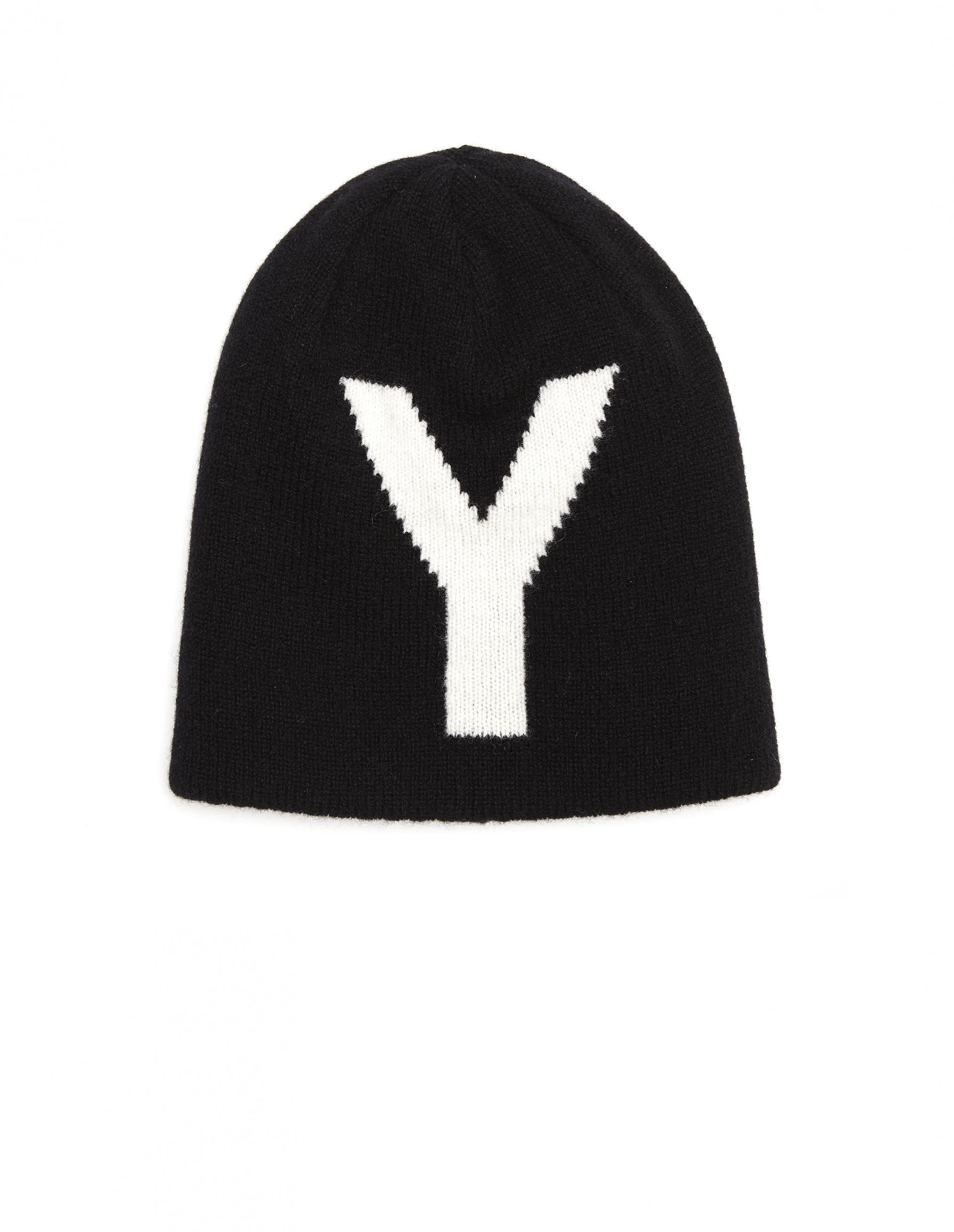 f7e23079d5c Y s Yohji Yamamoto Reversible Wool Knit Hat in Black - Lyst