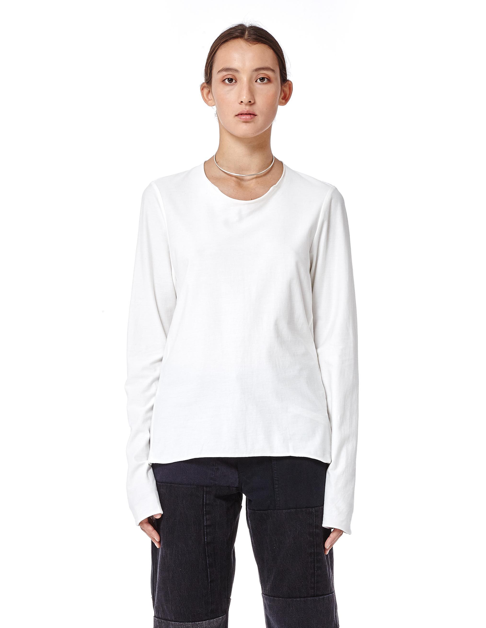 Lyst volga volga double faced cotton long sleeve t shirt for White cotton long sleeve t shirt
