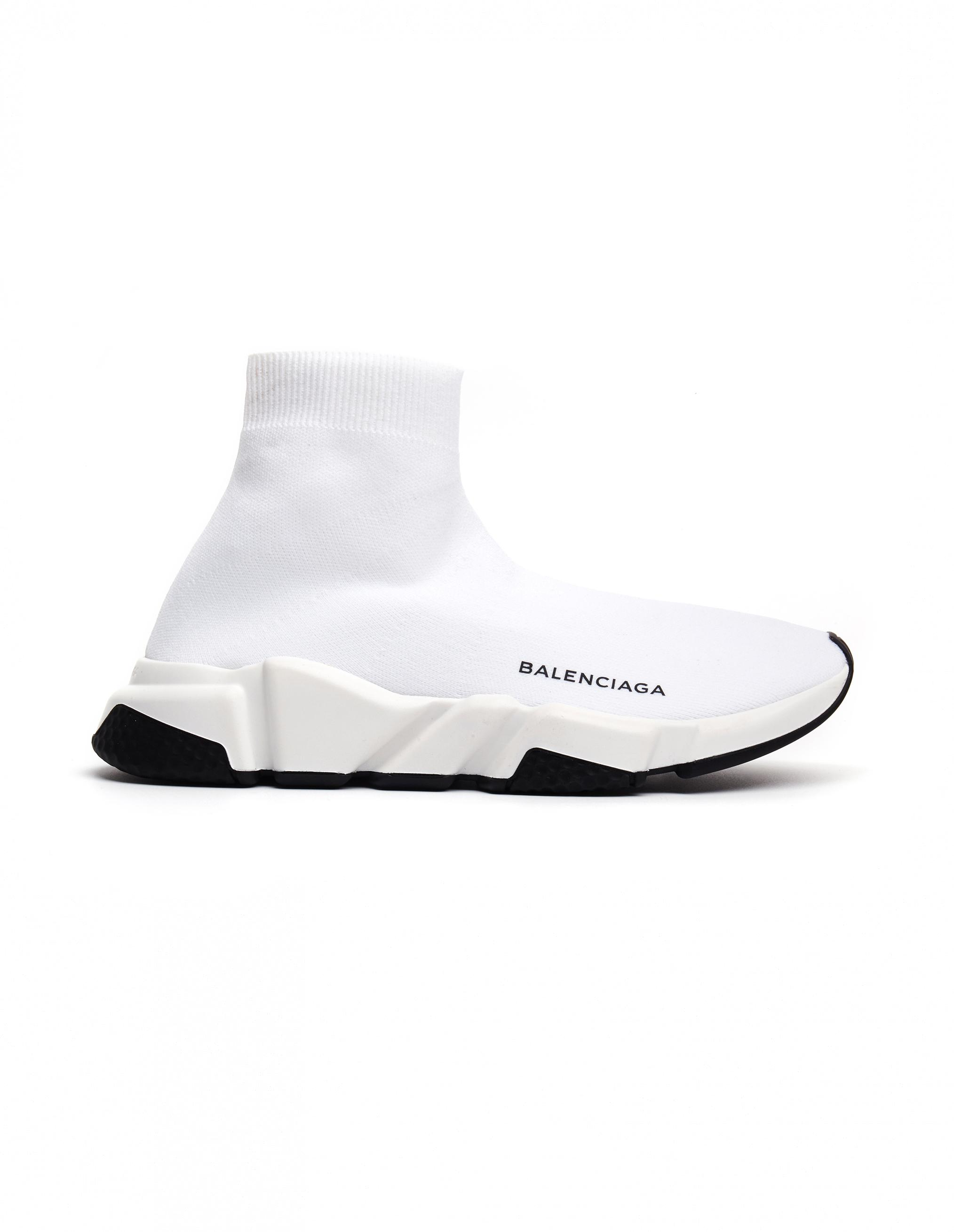 b09f6814a6eb order official 2018 balenciaga speed stretch knit low noir blanc noir sole  woxh8681 672f3 164ae  germany balenciaga white speed trainer sneakers lyst.  view ...