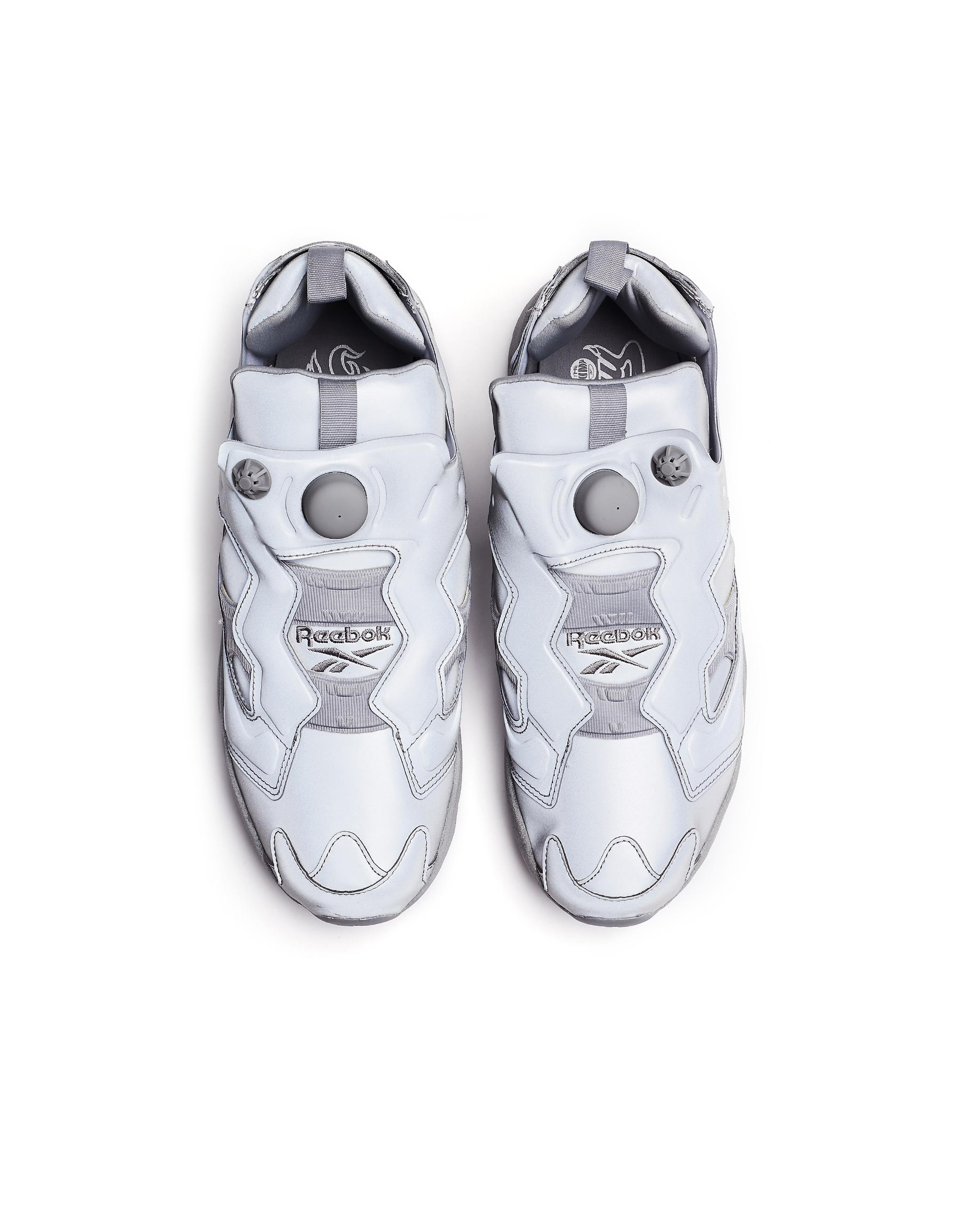 f57b55b1092a Vetements Instapump Fury Reflective Sneakers in Gray - Lyst