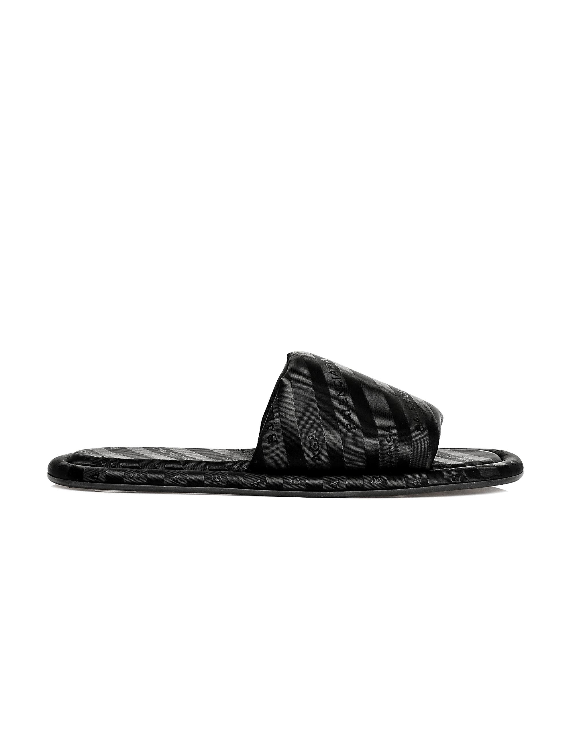 ebb85eb89d419 Lyst - Balenciaga Hotel Slippers in Black