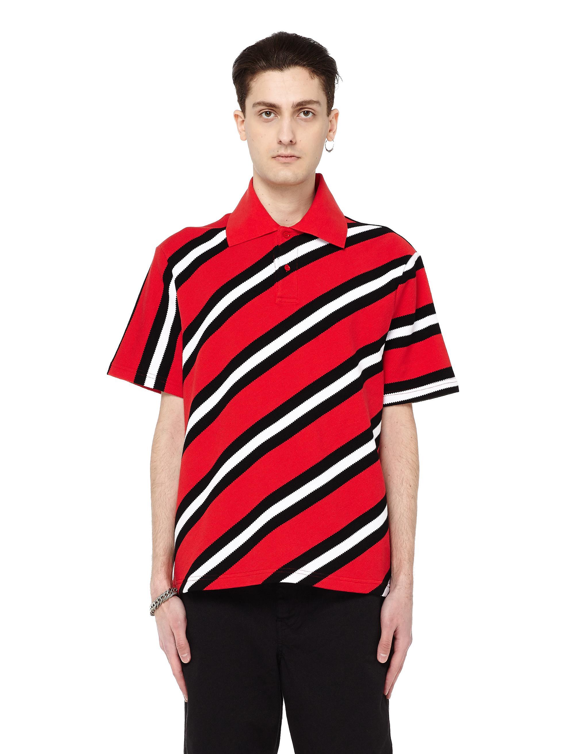Lyst Balenciaga Striped Polo Shirt Men Cotton Xs