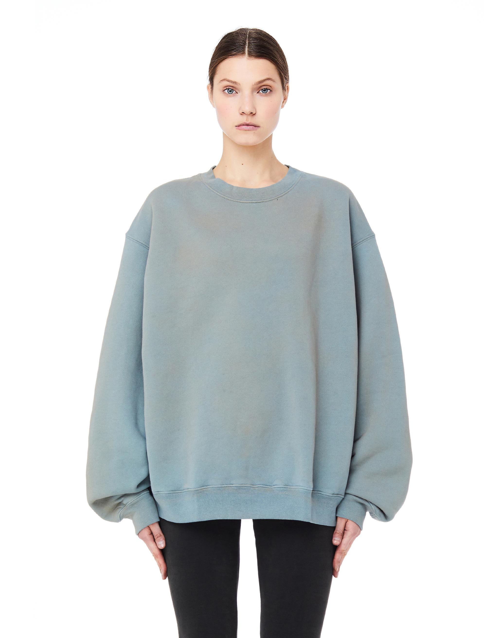 3e91d73a7 Yeezy Glacier Cotton Sweatshirt in Blue - Lyst