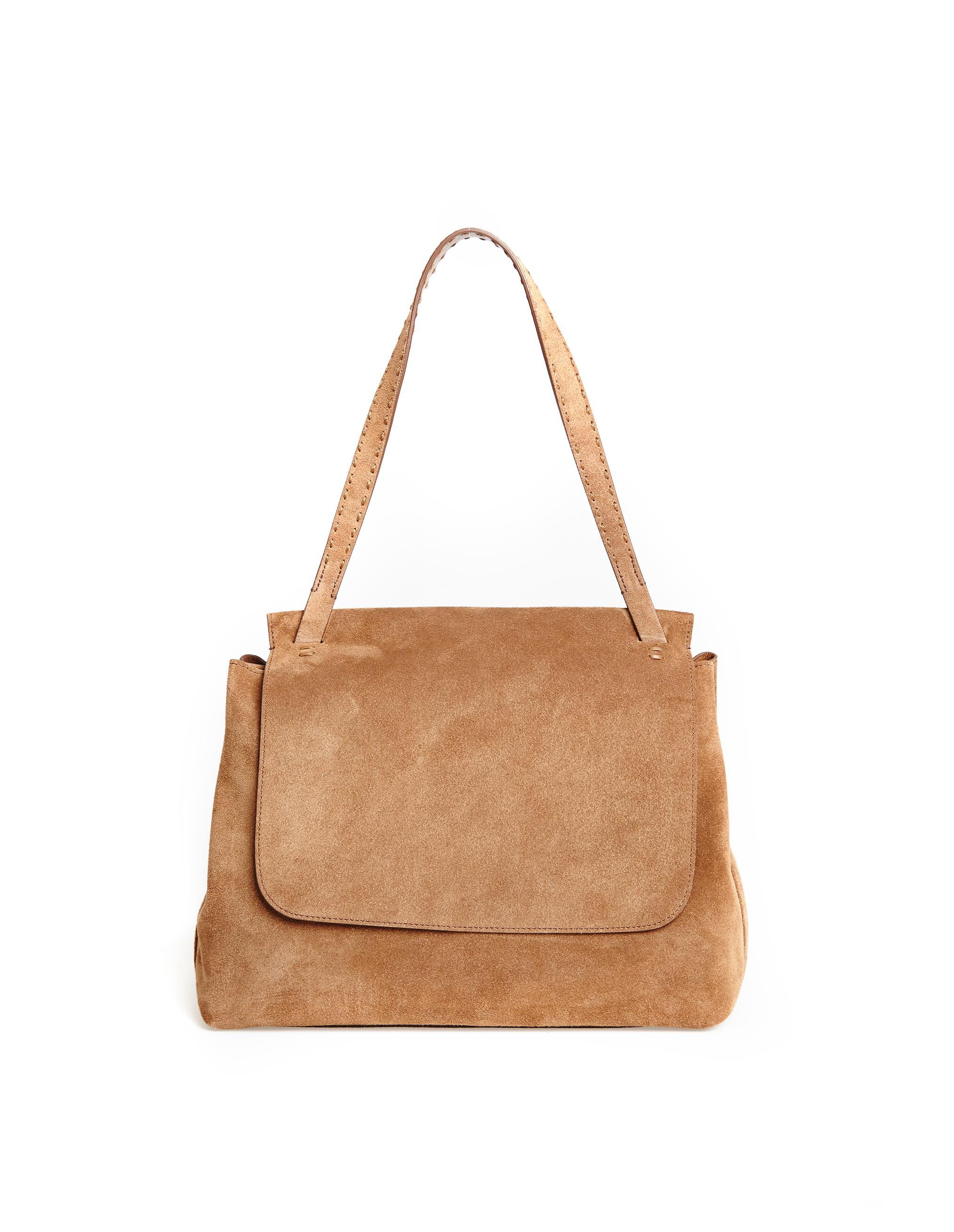 342ddd64fbcd Lyst - The Row Sidekick Suede Bag in Brown