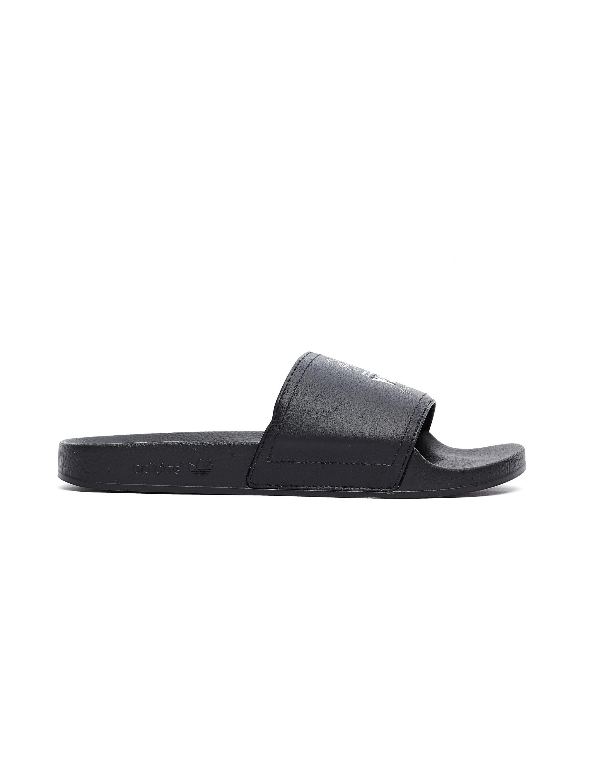 b97d30a47 Lyst - Y-3 Logo Adilette Slides in Black for Men