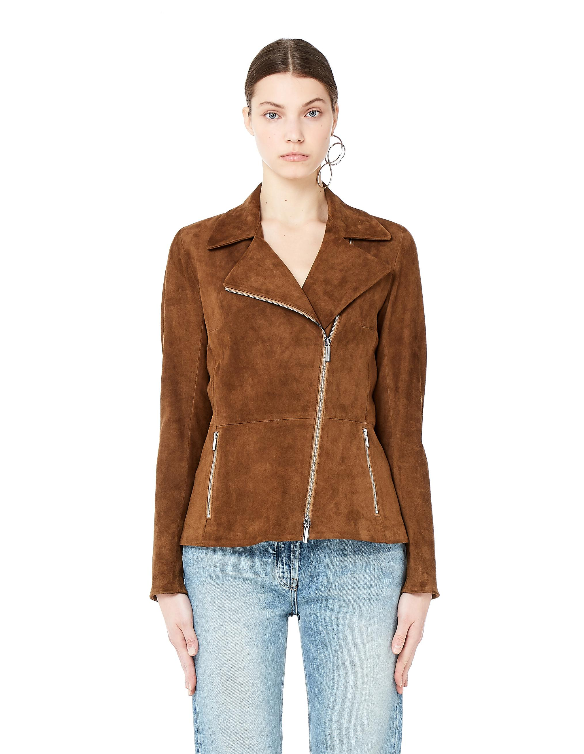 1c1337f3101 Lyst - The Row Paylee Brown Suede Biker Jacket in Brown