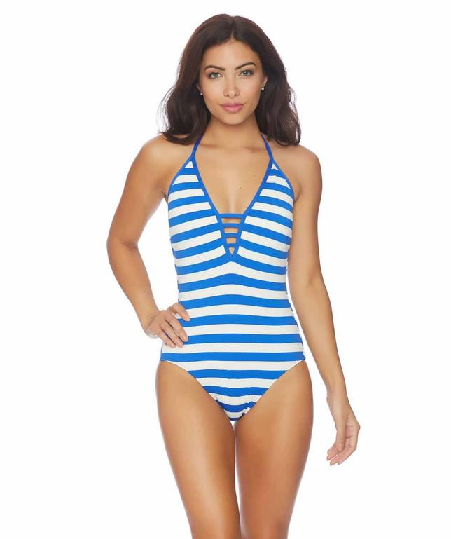 6a3cd1eab518d Lyst - Ella Moss Cabana One Piece in Blue