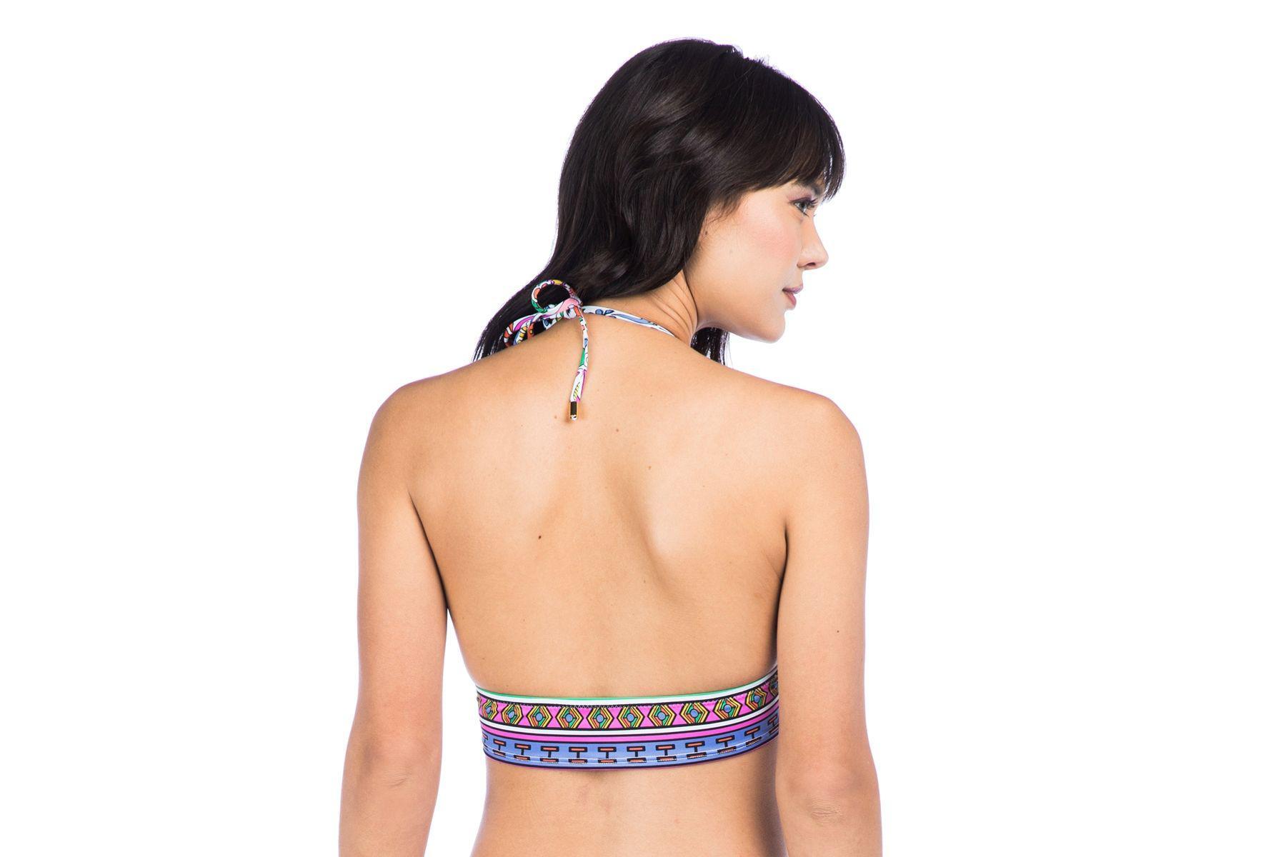 6dbd3ee64ccdd0 Lyst - Trina Turk Jungle Beach Crop Triangle Bikini Swim Top in Blue ...