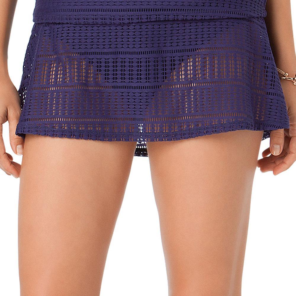 7724117c98d43 Lyst - Anne Cole Color Blast Lace Crochet Swim Skirt Bottom in Blue
