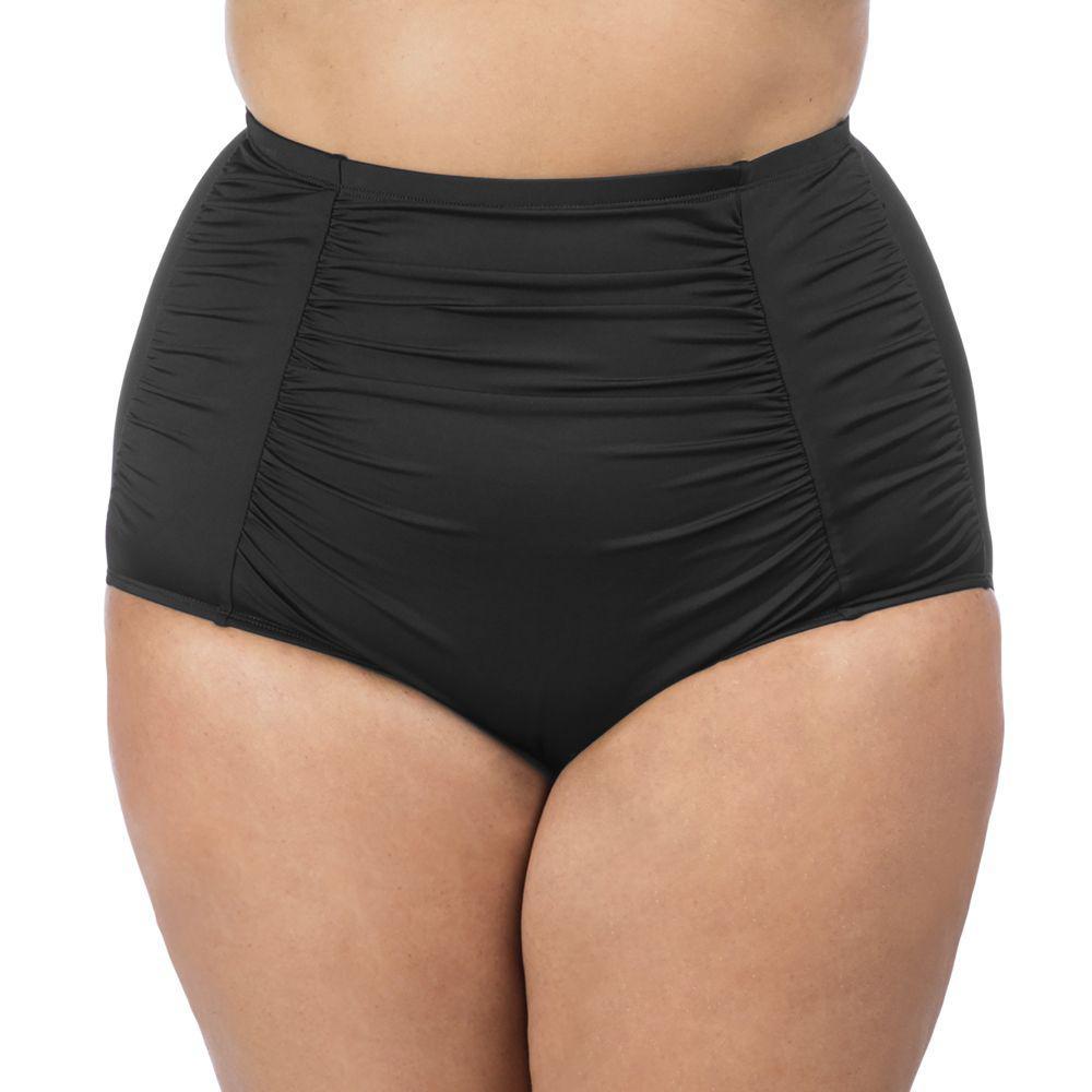 5da13a13cfe94 La Blanca. Women s Black Plus Size Island Goddess Ultra High Rise Pant Swim  Bottom