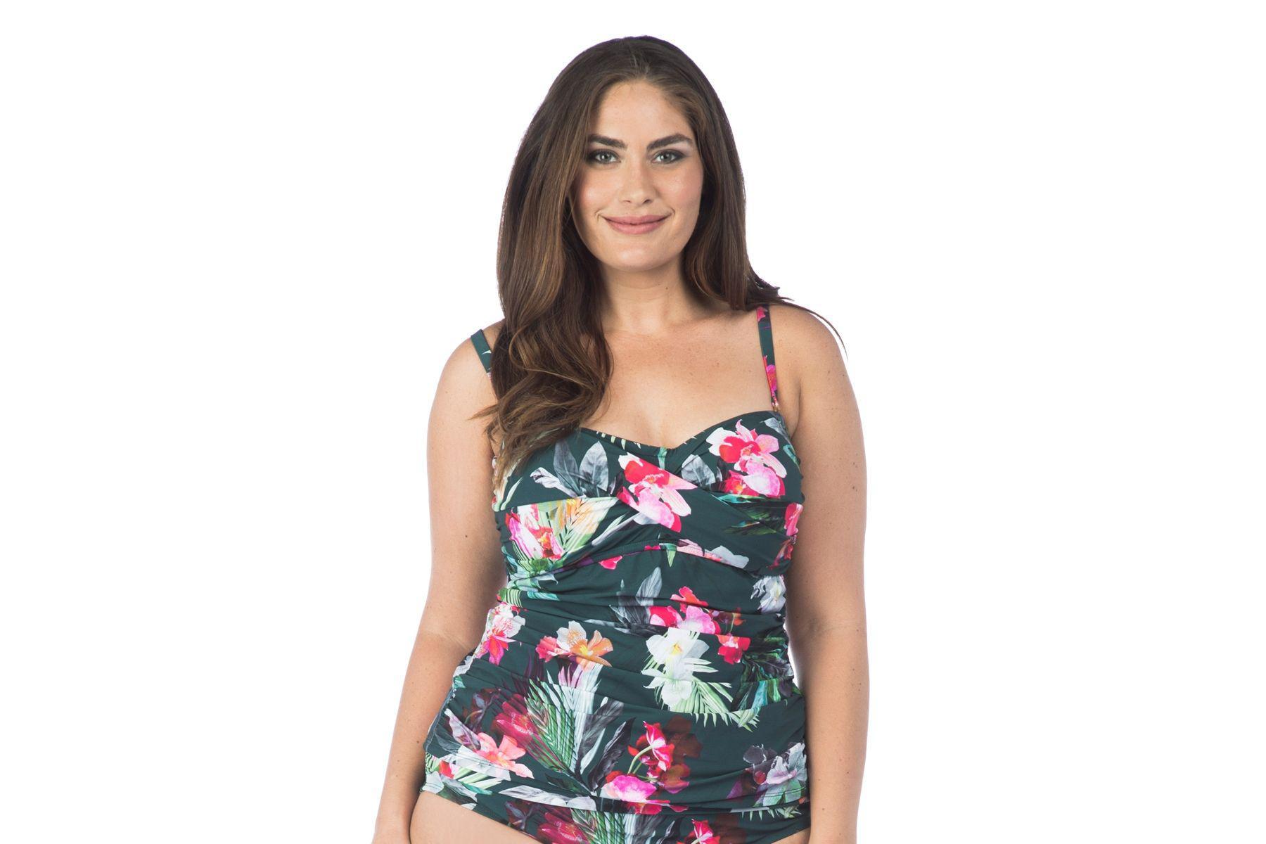 d3c00bab0d Lyst - La Blanca Size Beyond The Jungle Wrap Front Tubini Swim Top ...